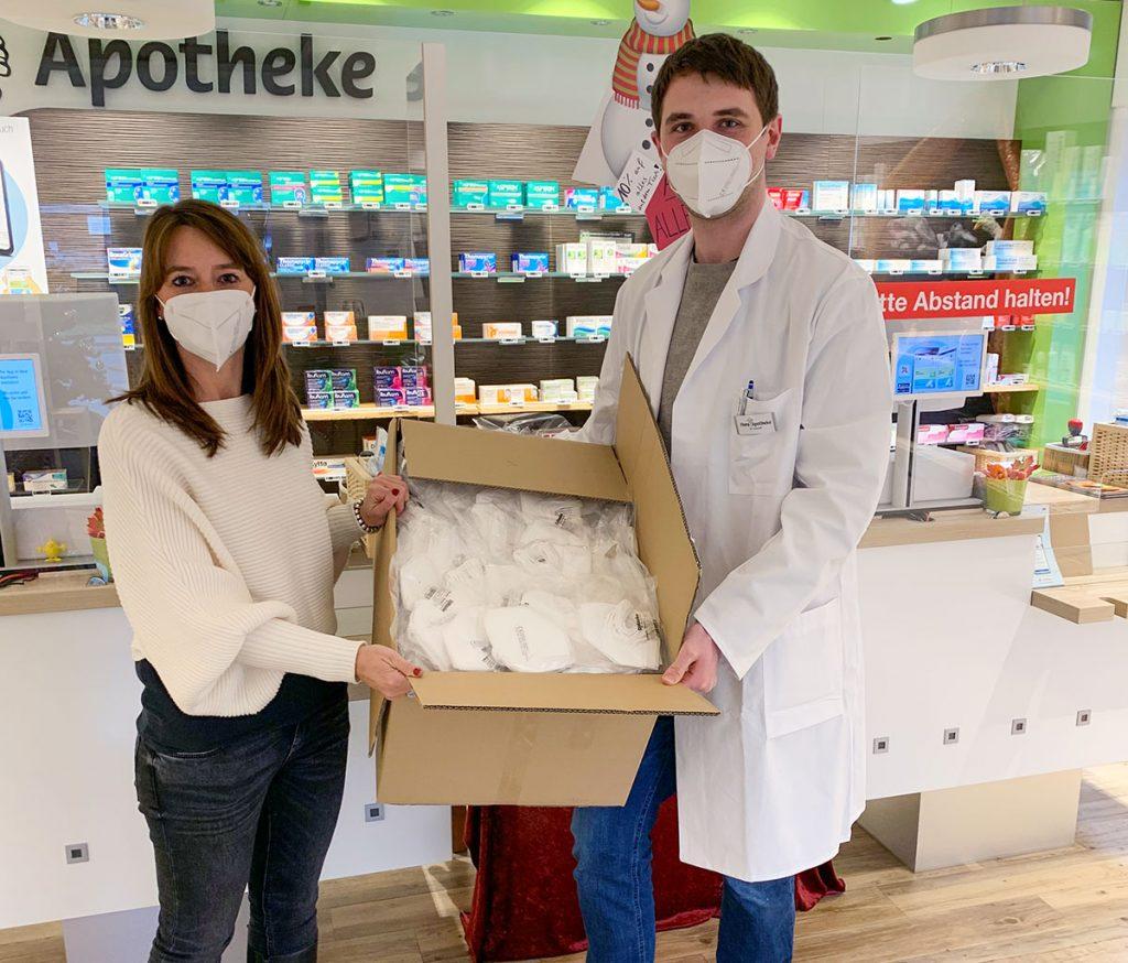 Pünktliche Auslieferung der D/Maske in der Flora-Apotheke in Haste