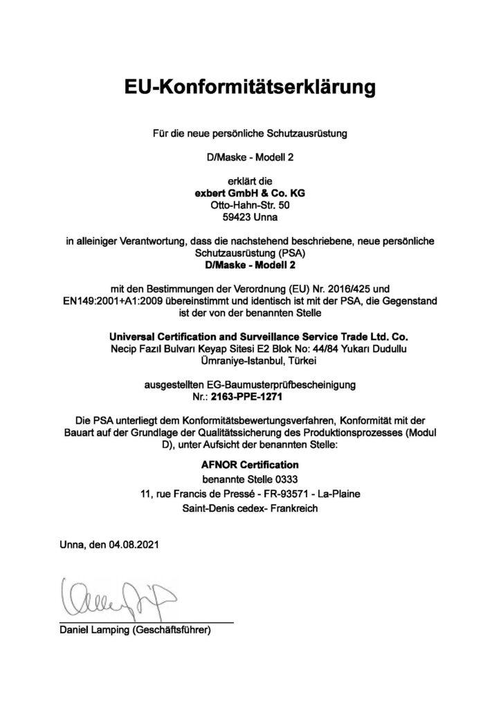 EU Konformitätserklärung